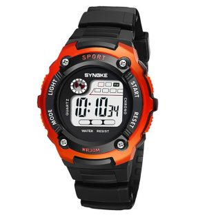 Sportief Kinderhorloge - Digital Kids Watch - Oranje