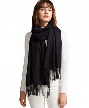zwarte dames sjaal - sjaal vrouwen - wintersjaal