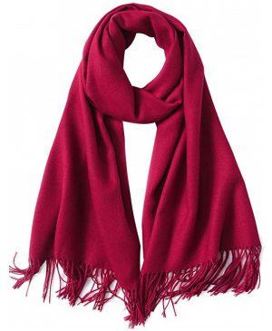 rode dames sjaal - sjaal vrouwen - wintersjaal