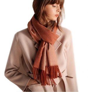 wollen sjaal - dames sjaal - wintersjaal - omslagdoek