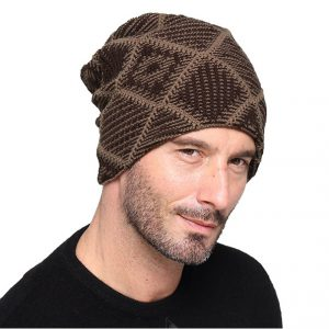 Beanie - Heren Muts - One Size - Brown