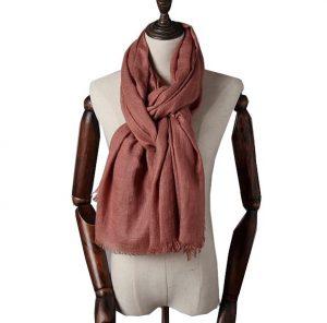 Extra Lange Sjaal - Rode Oker - Omslagdoek