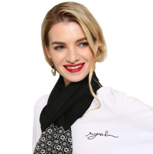 Transparante Dames Sjaal - Zwart
