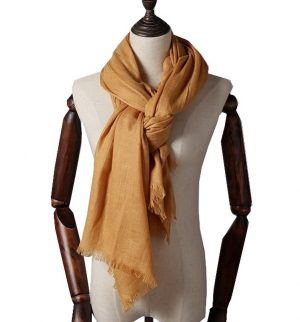 Extra Lange Sjaal - Okergeel - Omslagdoek