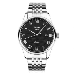 Stalen Heren Horloge - Polshorloge Mannen - Black