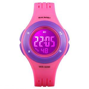 LED Kinderhorloge - Mulitifunctioneel Horloge - Donker Roze
