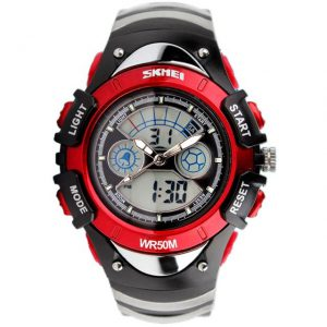 Kinderhorloge Chronograaf - Dual Time - Waterproof - Rood
