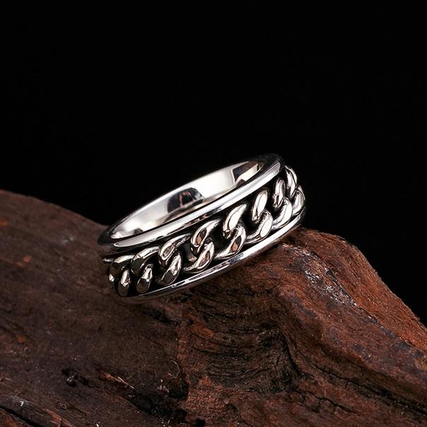 Zilveren Kabel Ring 8mm Breed