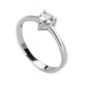 Zilveren Hart Ring - Damesring - 17.5mm