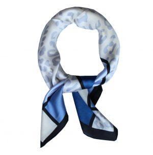 Halsdoek Dames - Sjaaltje - Blauw Geruit
