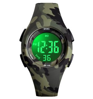 Kinderhorloge - Stopwatch - Waterdicht - Digital Watch - Legergroen
