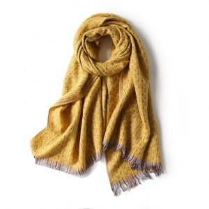 Luxe Dames Sjaal - Zachte Sjaal - Stiksels - Geel - 200cm