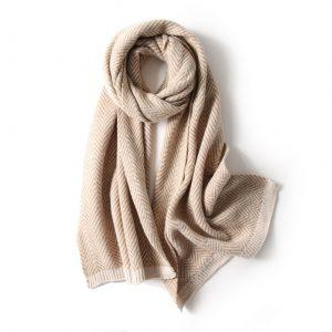 Warme Dames Sjaal - Shawl Vrouwen - Beige