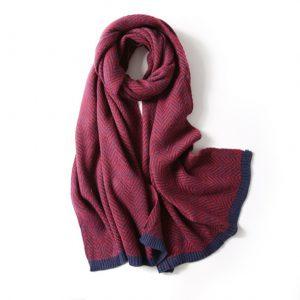 Warme Dames Sjaal - Shawl Vrouwen - Rood