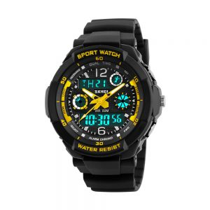 Kinderhorloge – Analoog Digitaal – Chronograaf - Shockproof - Yellow