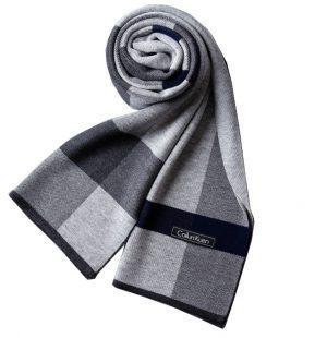 Woolblend Herensjaal - Geruite Sjaal - Grey