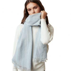 Wolmix Sjaal - Dames Sjaal - 190cm - Lichtblauw