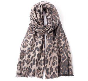 Sjaal Luipaard print - Dames Sjaal - 185cm