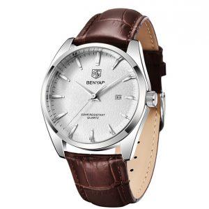 Horloge Heren - Horloge Leren Band - Herenhorloge