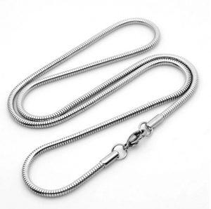 Ronde Slangenketting - Stalen Ketting - 3mm/50cm
