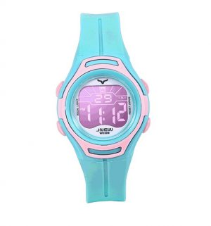 Kinderhorloge Stopwatch - LED Display - Geschenkdoosje - Roze/Mint