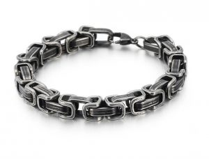 Donkere Konings Armband - Stalen Schakelarmband - Ø 8mm