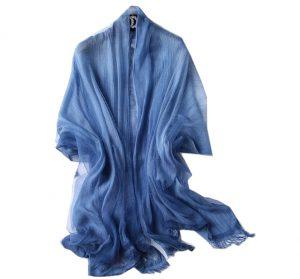 Damessjaal - Transparante Omslagdoek - Blauw
