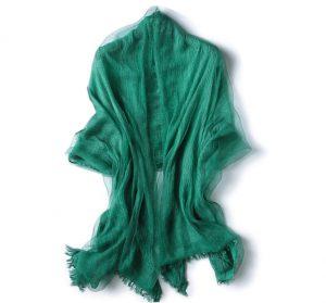 Damessjaal - Transparante Omslagdoek - Groen