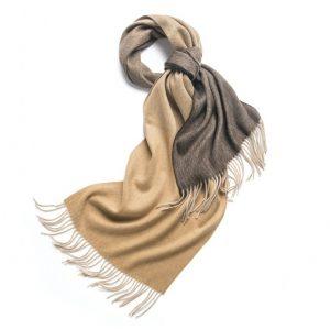 Wollen Sjaal Dames - Fading Colours Camel Bruin