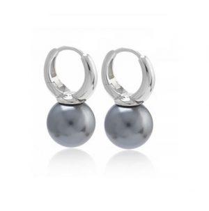 Oorringen Zilver - Oorringen Parel - Zilveren Oorbellen