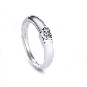 Zilveren Ring Hart - Ring Zilver - Verstelbare Ring