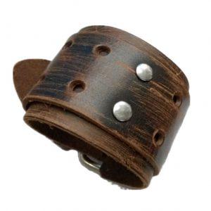 XL Leren Armband - Wide Belt - Scratch Brown