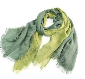 Sjaal Dames - Katoenblend - Groen