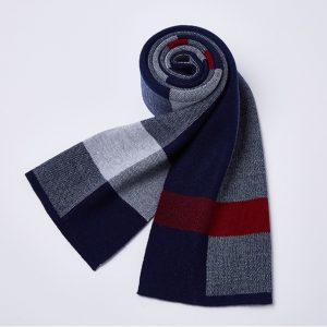 Sjaal Heren - Geblokte Sjaal - Blauw/Rood