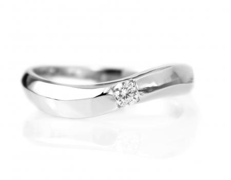 Zilveren Ring - Zirkonia - Golvend