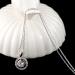 Halsketting - Cirkel Hanger - Wit Verguld
