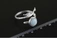 Handgemaakte Zilveren Ring Aquamarijn Vogeltje