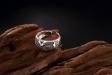 Zilveren Ring - X - Handgemaakt - Verstelbaar