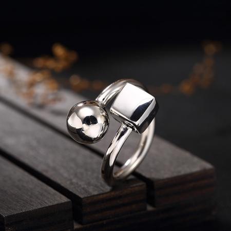 Massief Zilveren Ring - Handmade