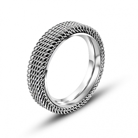 Mesh Ring uit Edelstaal