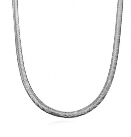 Slangenketting - Staal - 4mm/50cm