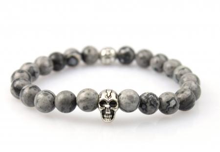 Skull Armband Natuursteen - Kralen Armband