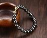 Natuursteen Armband - Hematite - Golden Lock