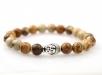 Armband Jaspis Natuursteen - Boeddha