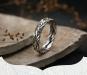 Gevlochten Ring Thais Sterling Zilver - Handgemaakt