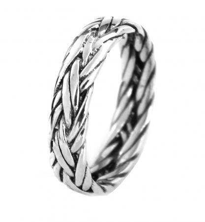 Gevlochten Ring - Thais Sterling Zilver - Handgemaakt