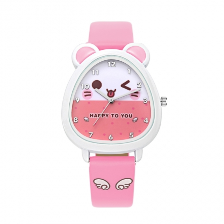 Kinderhorloge Muisje - Roze - Horloge Kids
