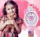 Kinderhorloge Feestje - Meisjeshorloge - Roze Bandje