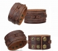 Robuuste Lederen Armband - Scratch Brown
