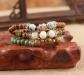 Natural Kralenarmband - Wood - Ceramic - Green